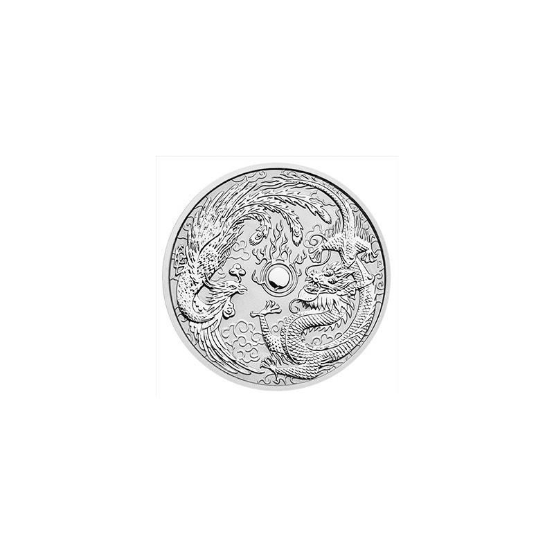 1 Unze Silber Dragon + Phoenix Perth Mint 2017