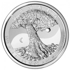 10 oz Silver Tree of Life Yin Yang2017