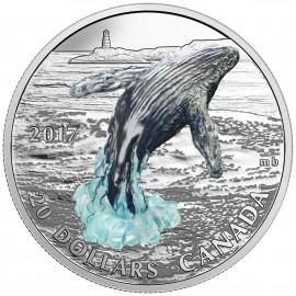 1 Unze Silber Canada 2017 breaching whale