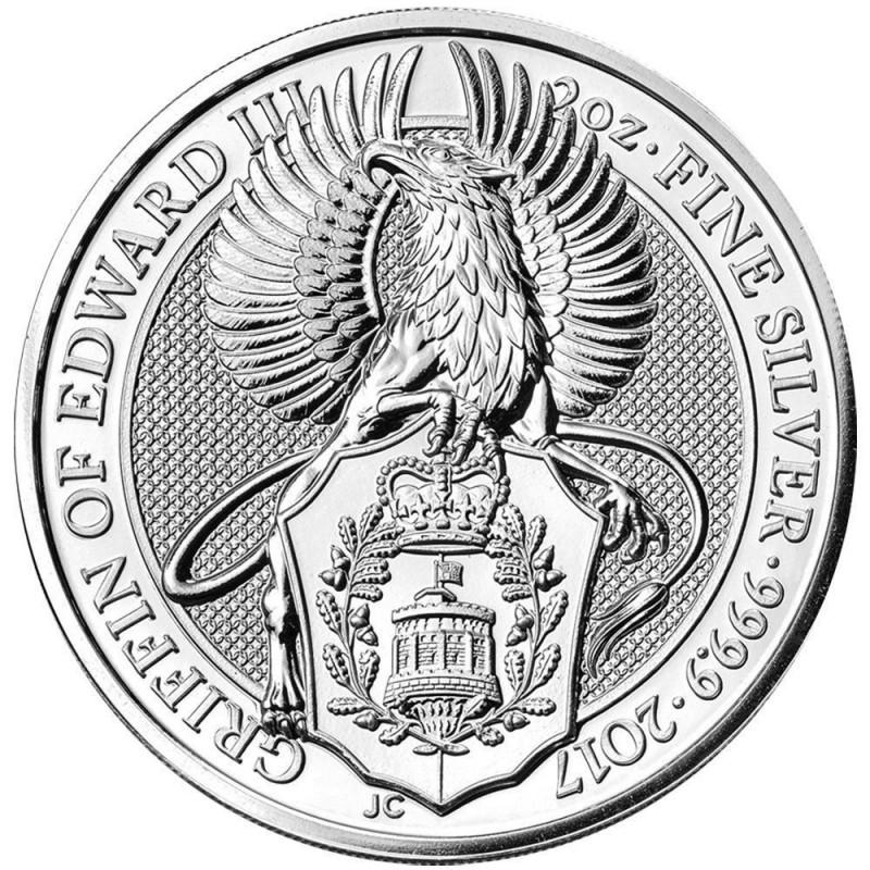 2 Unzen Silber Queens Beasts Lion 2016 High Relief