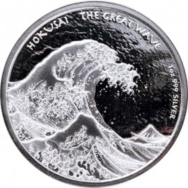 1 Unze Silber  Hokusai The great Wave  Fiji 2017
