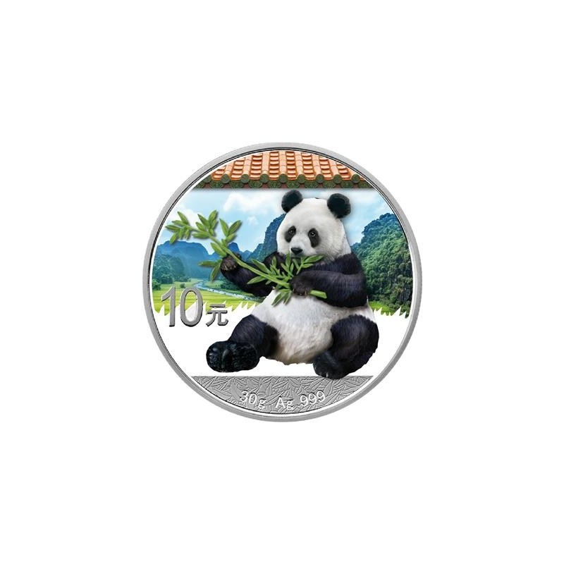 30 g Silber China Panda 2017 Coloured