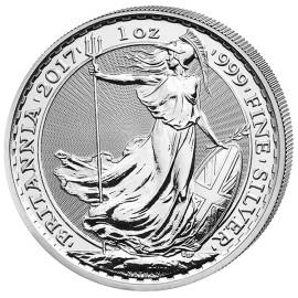 1 Unze Silber Britannia UK 2017