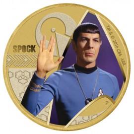 Tuvalu Mr Spock Star Trek  1 AUD 50 Jahre mit Briefmarke