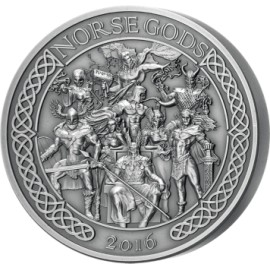 5 Unzen  oz Silber Nordic Gods  $25 2016 Cook Islands