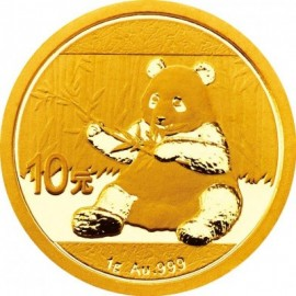 1 Gramm China Panda Goldmünze 2017