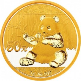 3 Gramm China Panda Goldmünze 2017