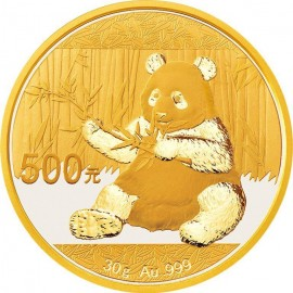 30 Gramm China Panda Goldmünze 2017