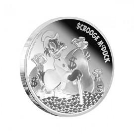 2 Unzen Silber Disney Dagobert Duck Nieu