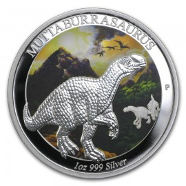 1 oz silver Muttaburrasaurus