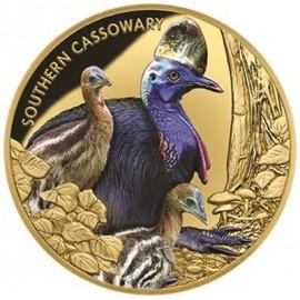 1 oz Gold  Southern Cassowary