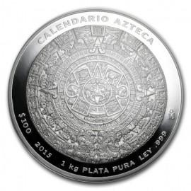 1 Kilo Silber Aztekenkalender PP