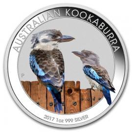 1 Unze Silber Australien Kookaburra 2017 Farbig
