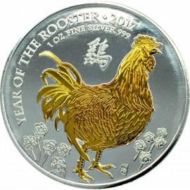 1 oz Lunar UK Rooster
