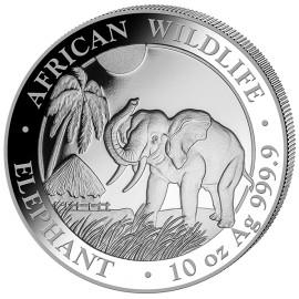 10 Unze oz Silber Somalia Elefant 2017
