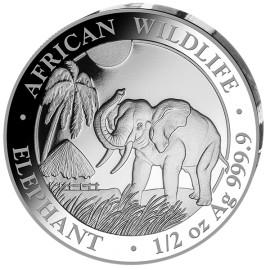 1/2 oz Silver Somalia Elefant 2017