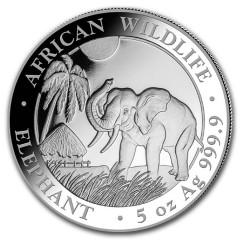 5 Unze oz Silber Somalia Elefant 2017