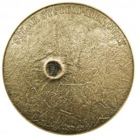 1 Unze Silber Solar System Mercury NWA 8409 Meteorite High Relief