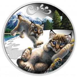 1/2 Unze Silber Baby Luchs Cub Perth Mint PP