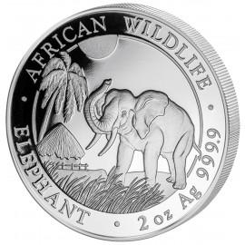 2 Unze oz Silber Somalia Elefant 2017
