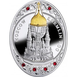 NIUE 2013 $2 IMPERIAL FABERGÉ EGGS - MOSCOW KREMLIN EGG 56.56G SILVER PROOF COIN