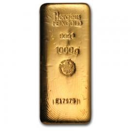 1 kg 1000 g Goldbarren Heraeus gegossen
