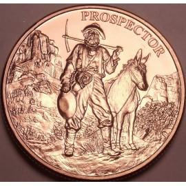 1 Unze Kupfer Prospector Round 999 Copper