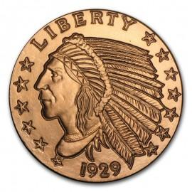 1 oz Copper Indian Round
