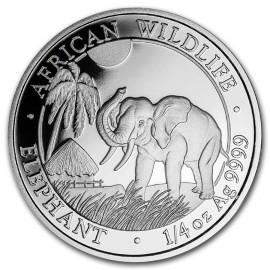 1/4  oz Silver Somalia Elefant 2017
