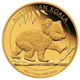 1/10 oz Koala Gold 2016