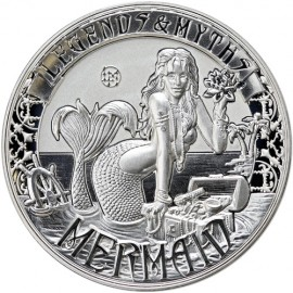 2 Unzen oz Silber   MERMAID LEGENDS & MYTHS 2016 SOLOMON ISLANDS  REVERSE PROOF