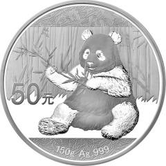 150 g Gramm Silber China Panda 2017 PP BOX