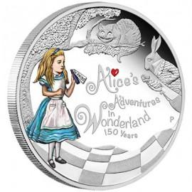 1 Unze Silber Alice im Wunderland PP