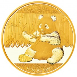 150 g China Panda Goldmünze 2017