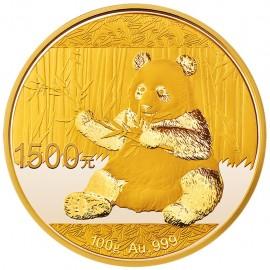 100 g China Panda Goldmünze 2016