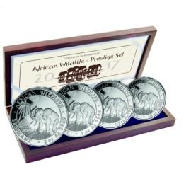 Silver Set 3,75 oz Somalia Elefant silver