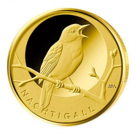 1/8 oz Gold 20 Euro Nachtigall Heimische Vögel 2016 Deutschland
