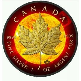 1 Unze Silber Maple Leaf Solar2015
