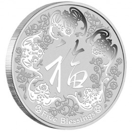 1oz silver 5 Blessings