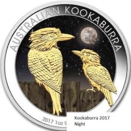 1 Unze Silber Australien Kookaburra 2017 Night farbig