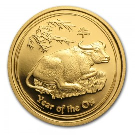 1/4 oz Gold Lunar II Ochse  2009 Proof