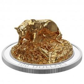 2 oz Unze Silber Canada 2017 Cougar sculpture coin