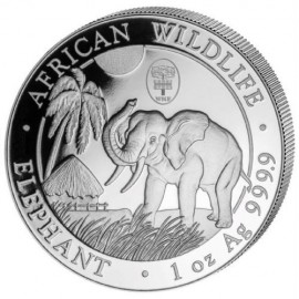 1 Unze Silber Somalia Elefant 2017 Weltuhr WMF