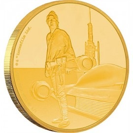 1/4 oz Luke Skywalker  Star Wars  PP  Gold 2017