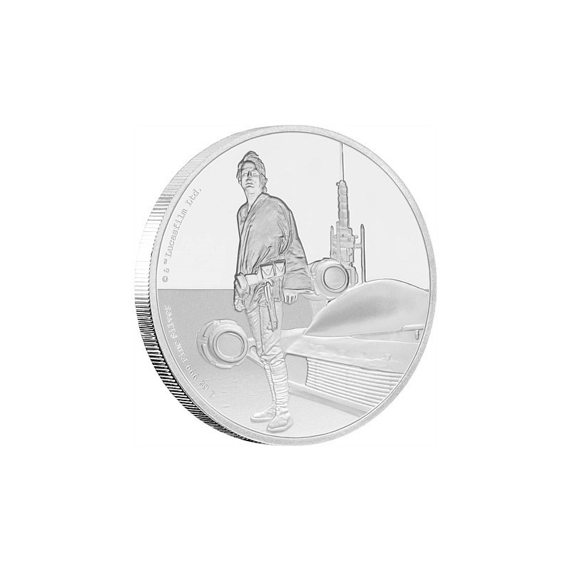 1 Unze Silber Luke Skywalker Star Wars Niue
