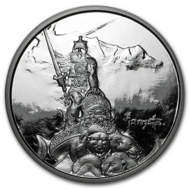 5 Unzen Silber Krieger Silver Warrior Frank Frazetta PP
