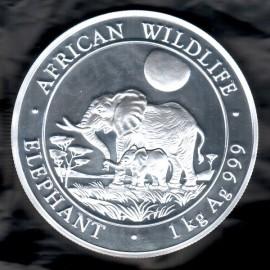 1 Kg Silbermünze Somalia Elefant 2011