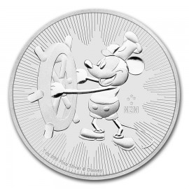 1 oz Silver Steamboat Willie Mickey Mouse