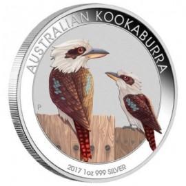 1 Unze Silber Australien Kookaburra 2017 WMF Berlin  Farbig