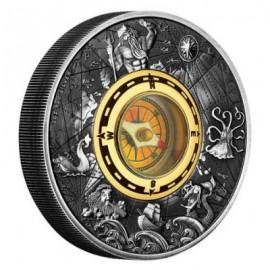 2 Unzen oz Silber Kompass PP Perth Mint